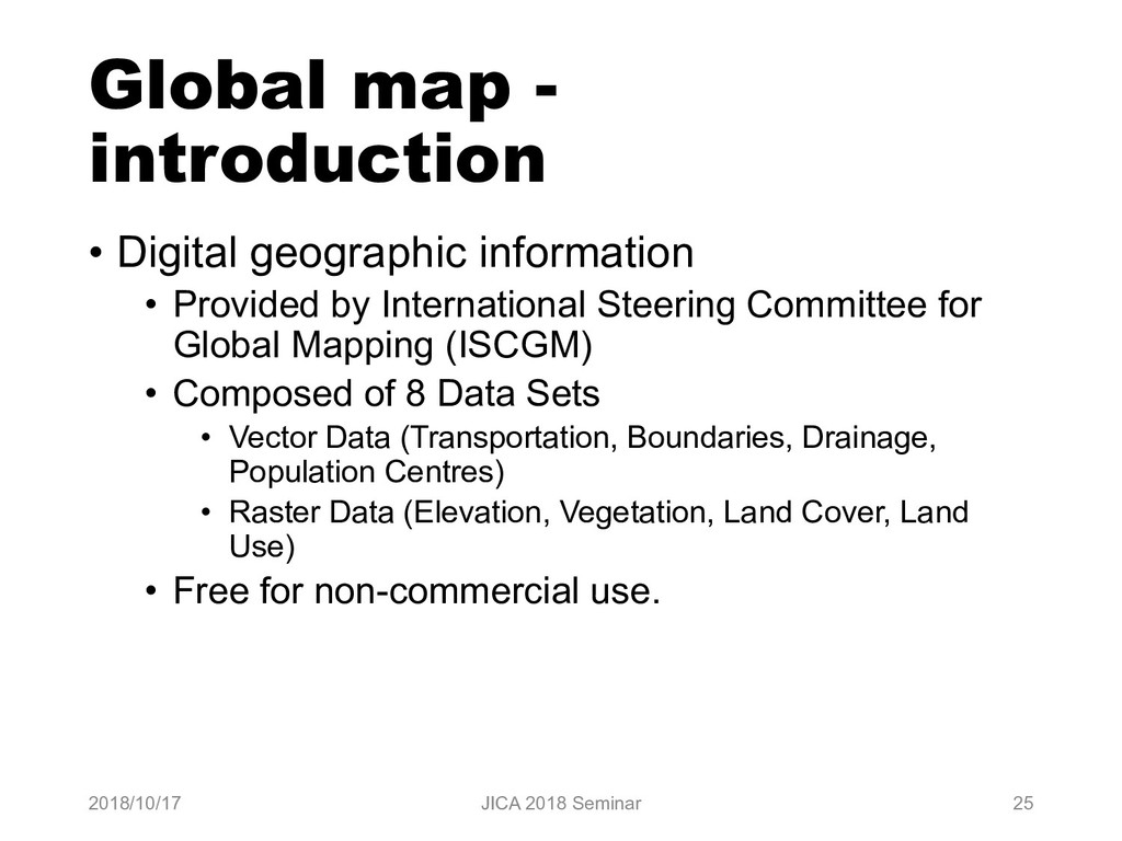 Global map - introduction • Digital geographic ...