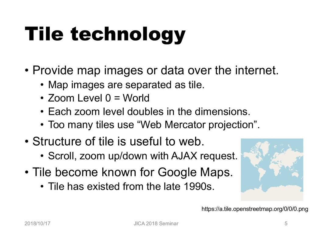 Tile technology • Provide map images or data ov...
