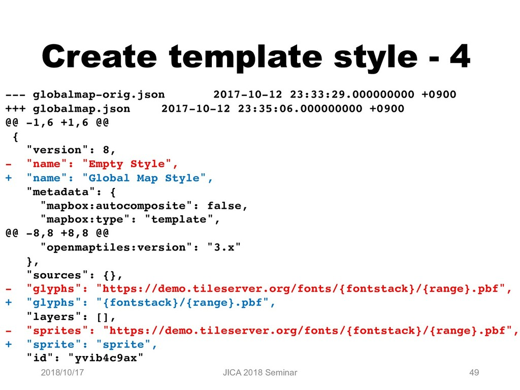 Create template style - 4 2018/10/17 JICA 2018 ...