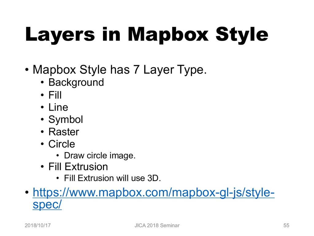 Layers in Mapbox Style • Mapbox Style has 7 Lay...