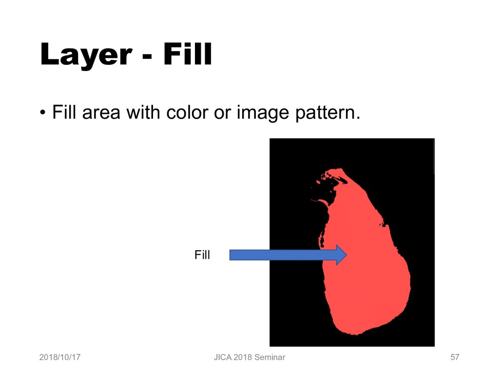 Layer - Fill • Fill area with color or image pa...