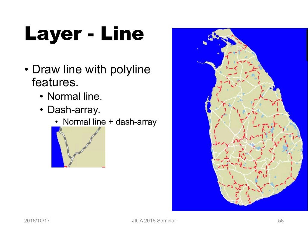Layer - Line • Draw line with polyline features...