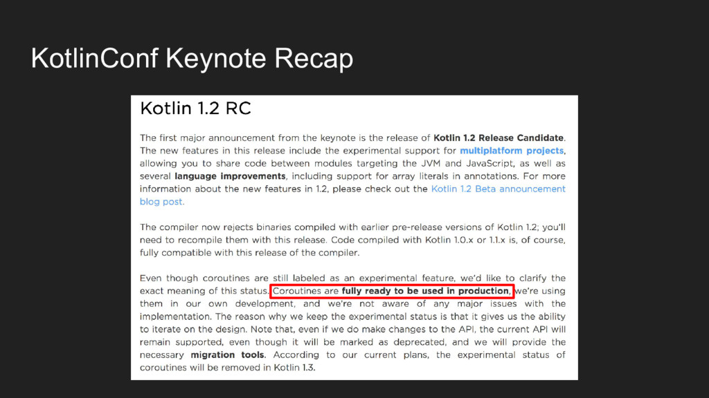 KotlinConf Keynote Recap
