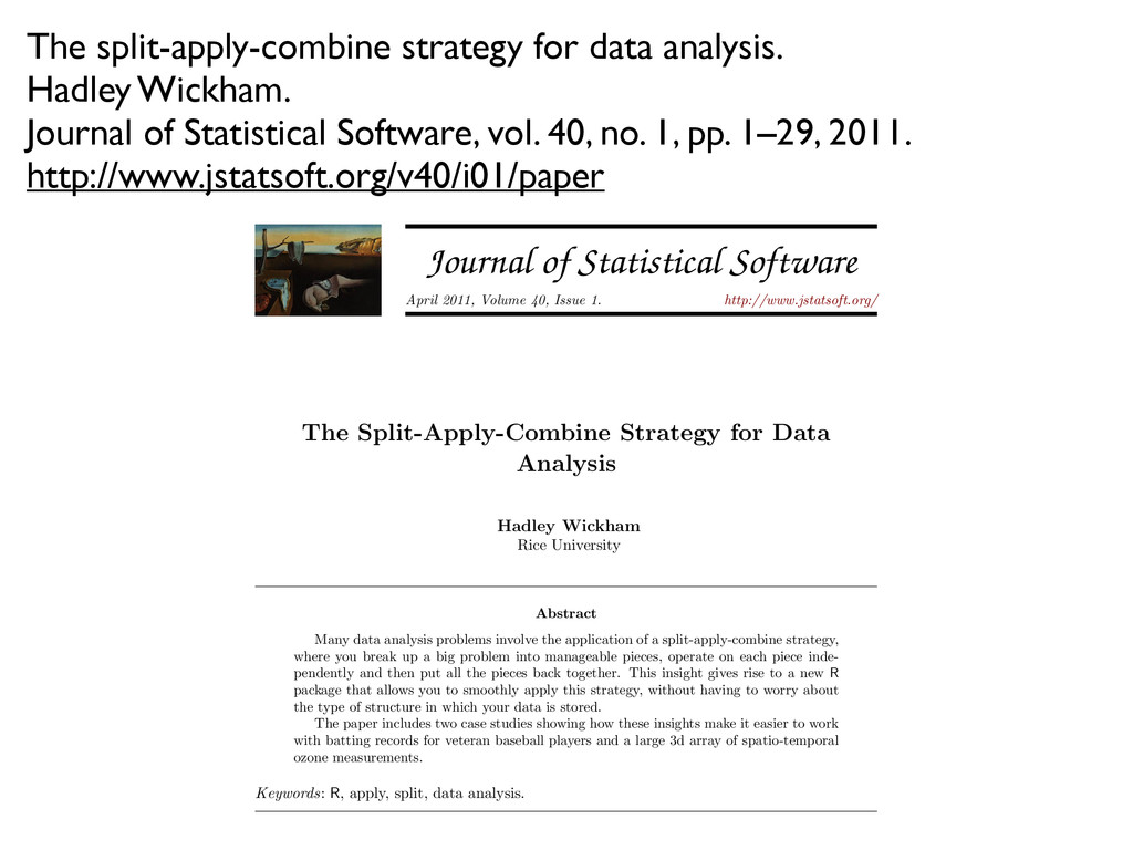 The split-apply-combine strategy for data analy...
