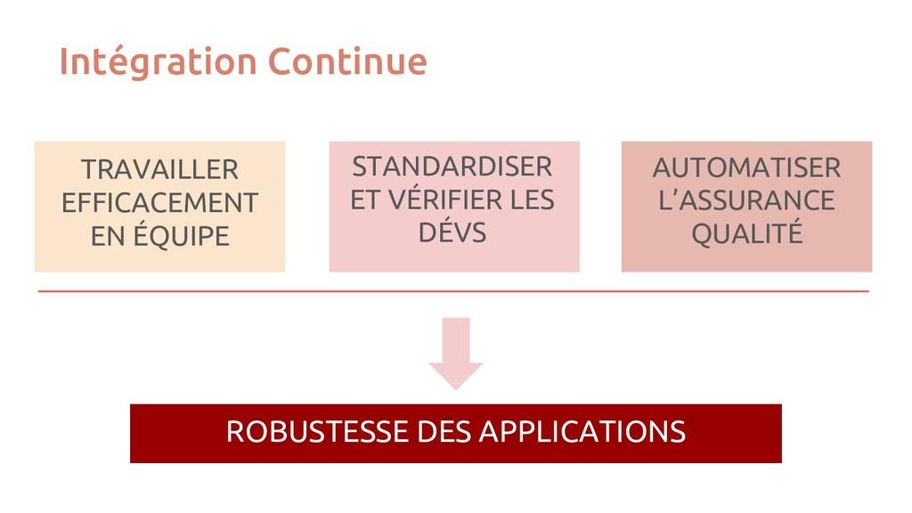 Intégration Continue ROBUSTESSE DES APPLICATION...