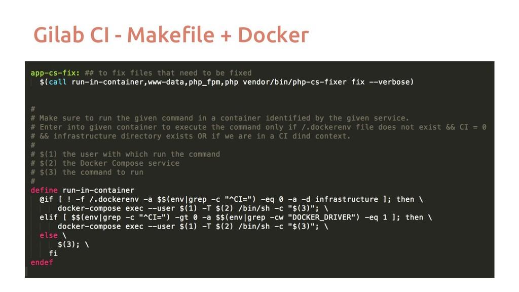 Gilab CI - Makefile + Docker
