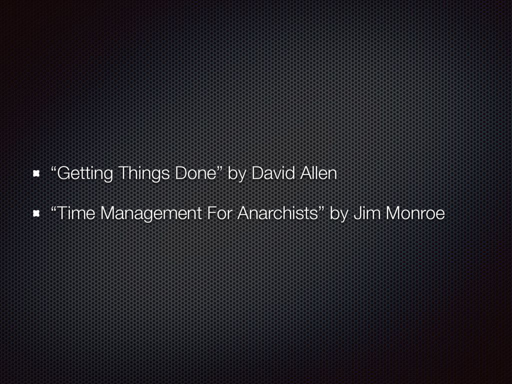 """""""Getting Things Done"""" by David Allen """"Time Mana..."""