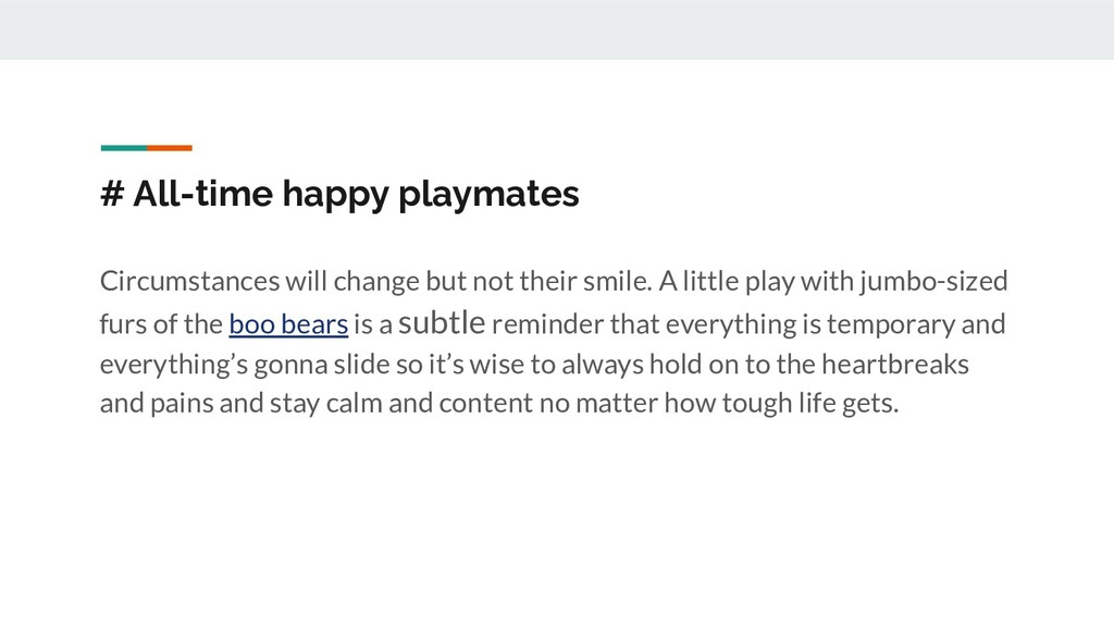 # All-time happy playmates Circumstances will c...