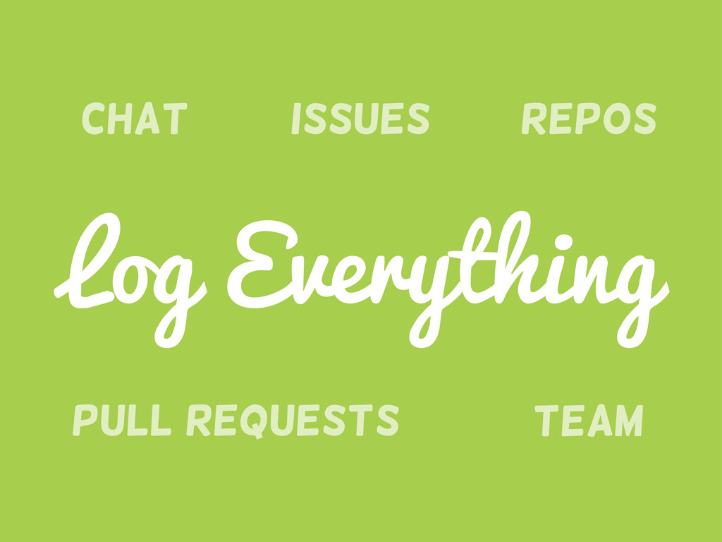 Pull requests Chat Team Issues Repos Log Everyt...