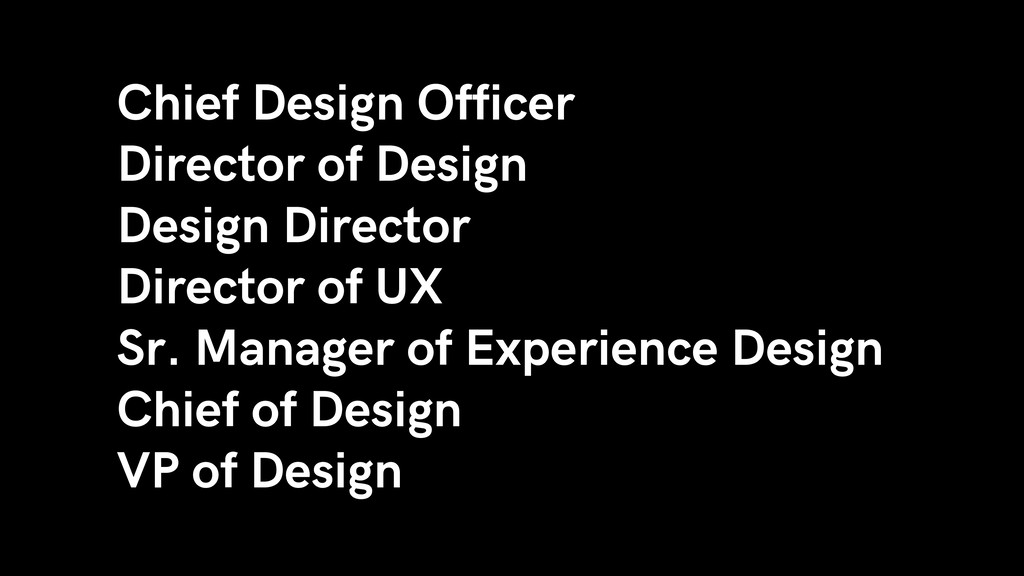 Chief Design Officer Director of Design Design ...