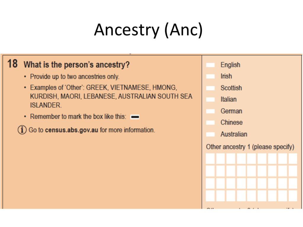 Ancestry (Anc)