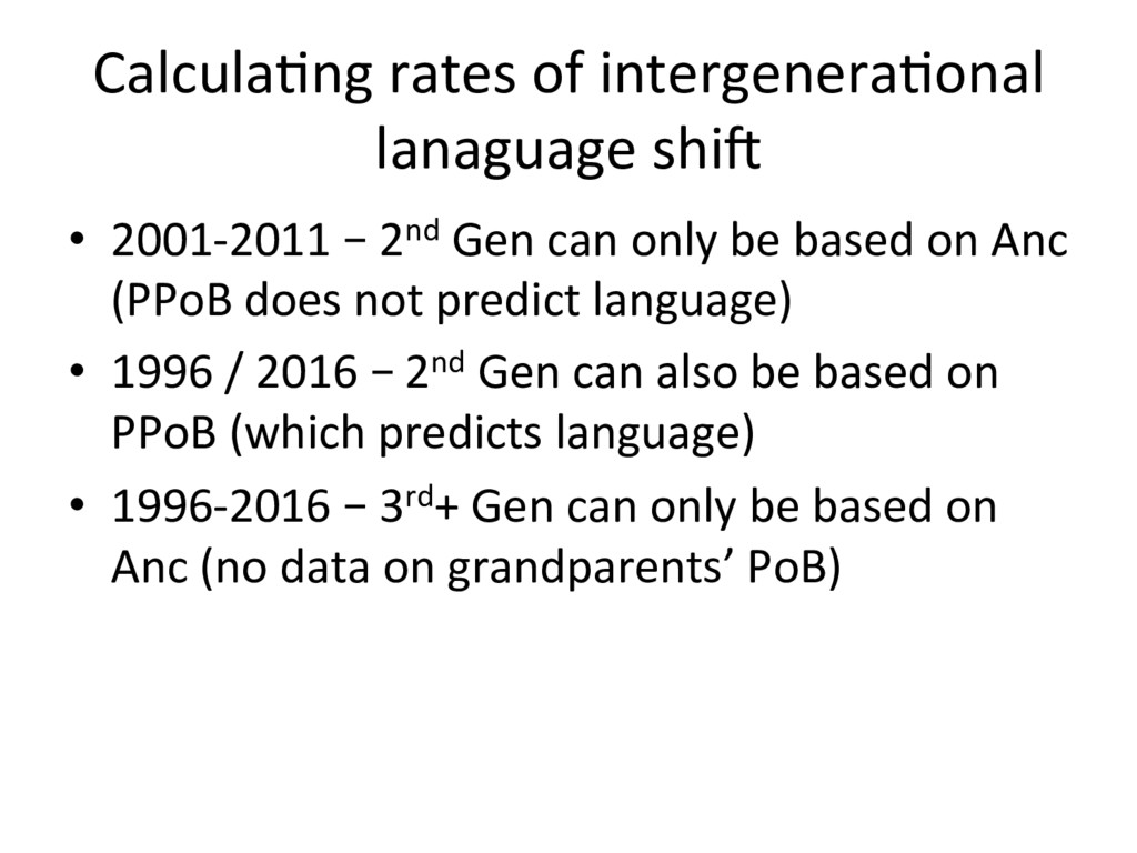 Calcula=ng rates of intergenera=onal lanaguage ...