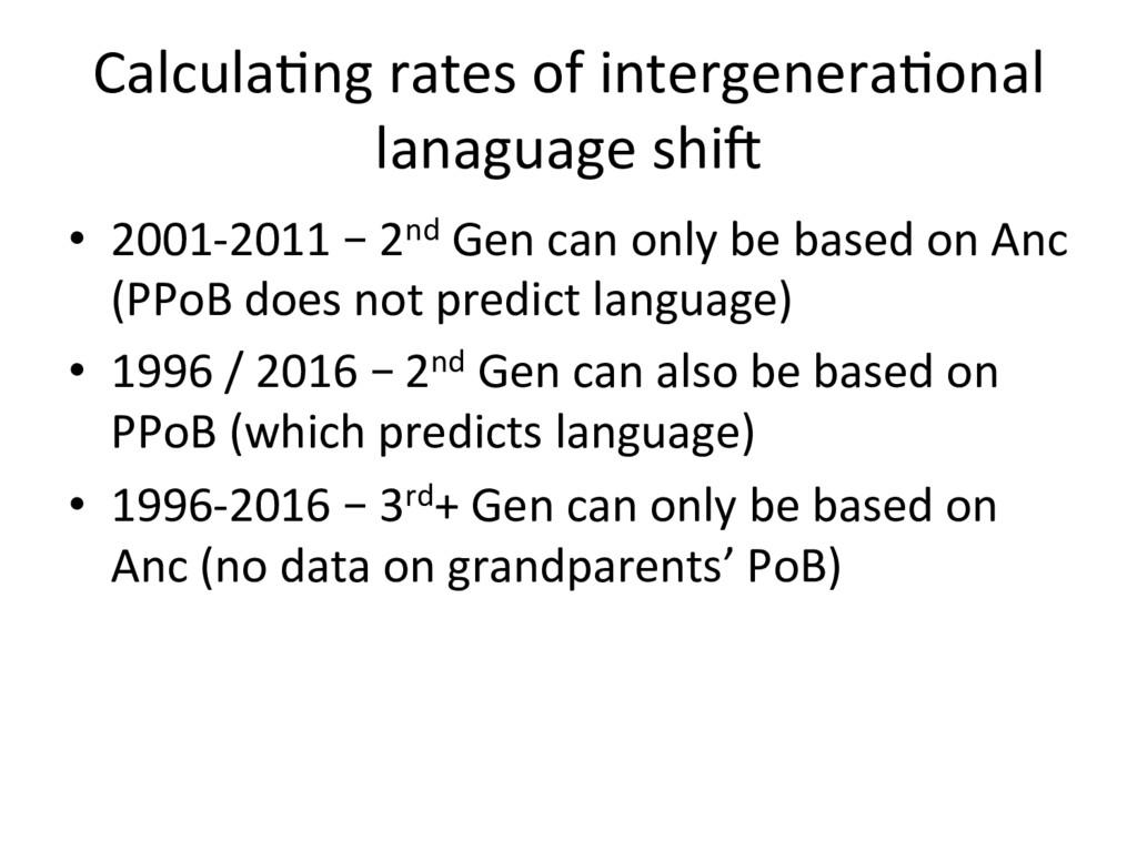 Calcula=ng rates of intergenera=onal lanaguage ...
