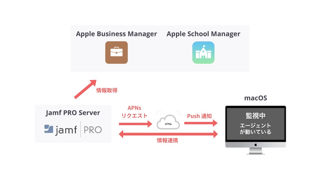 macOS Jamf PRO Server ࢹத ΤʔδΣϯτ ͕ಈ͍͍ͯΔ Apple B...