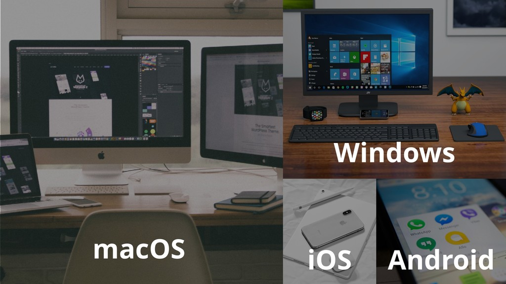 macOS Windows iOS Android