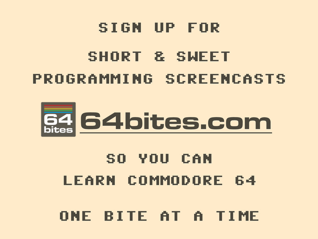 64bites.com SHORT & SWEET ! PROGRAMMING SCREENC...