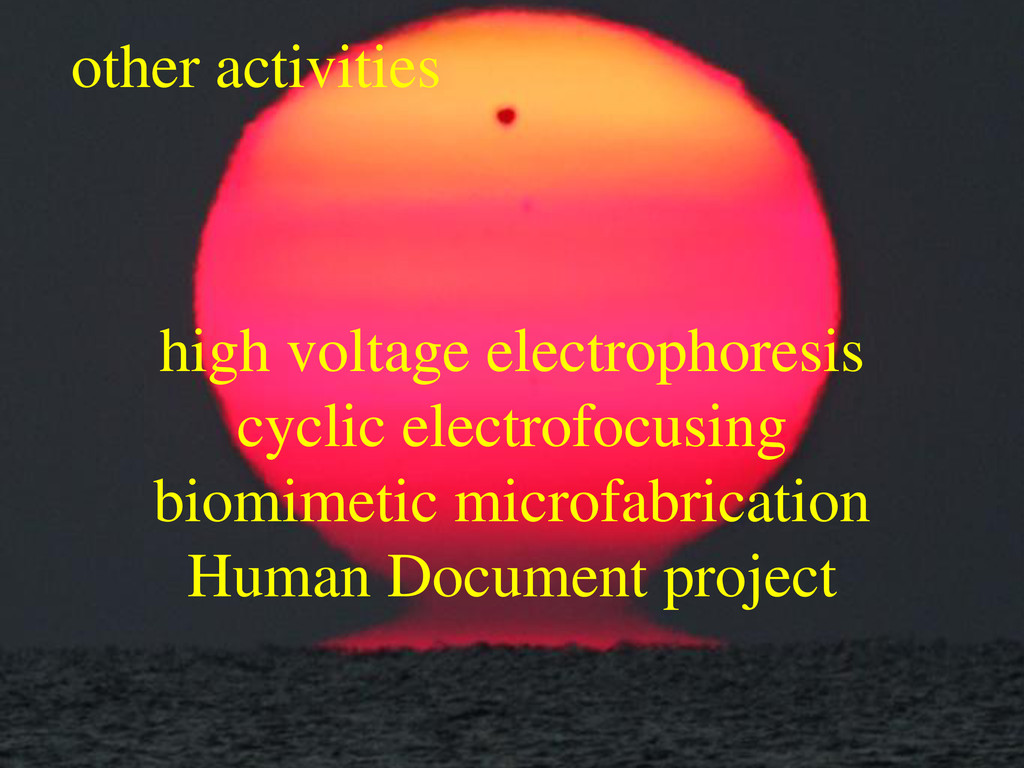 other activities high voltage electrophoresis c...