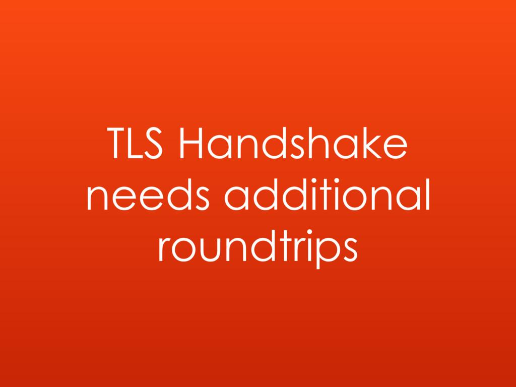 TLS Handshake needs additional roundtrips
