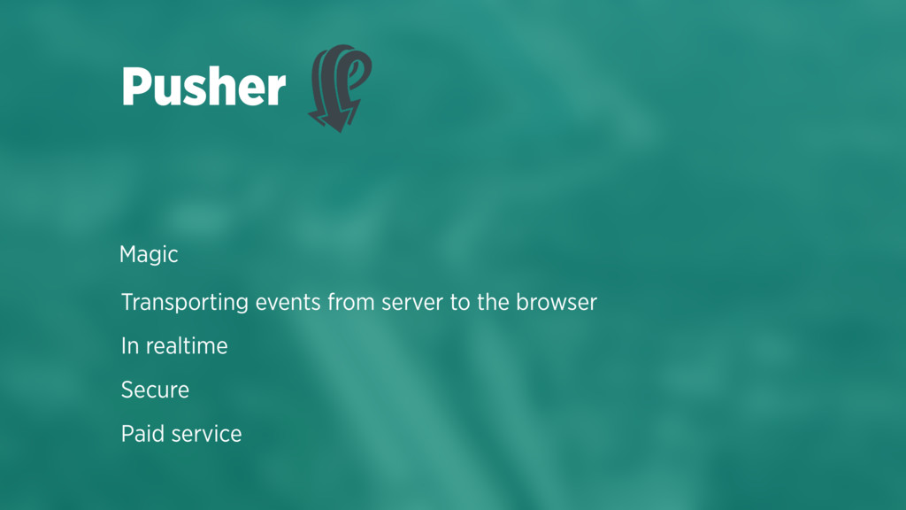 Transporting events from server to the browser ...