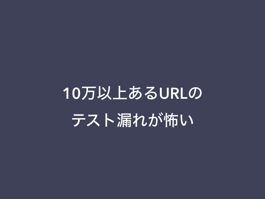 10ສҎ্͋ΔURLͷ ςετ࿙Ε͕ා͍