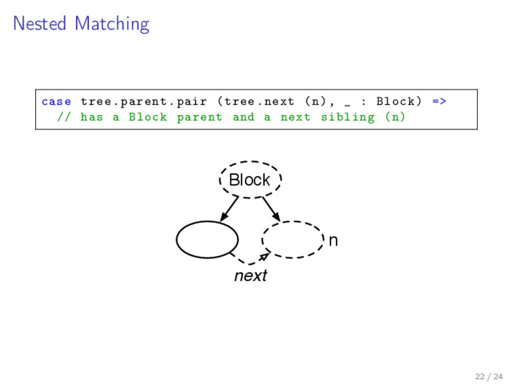 Nested Matching case tree.parent.pair (tree.nex...