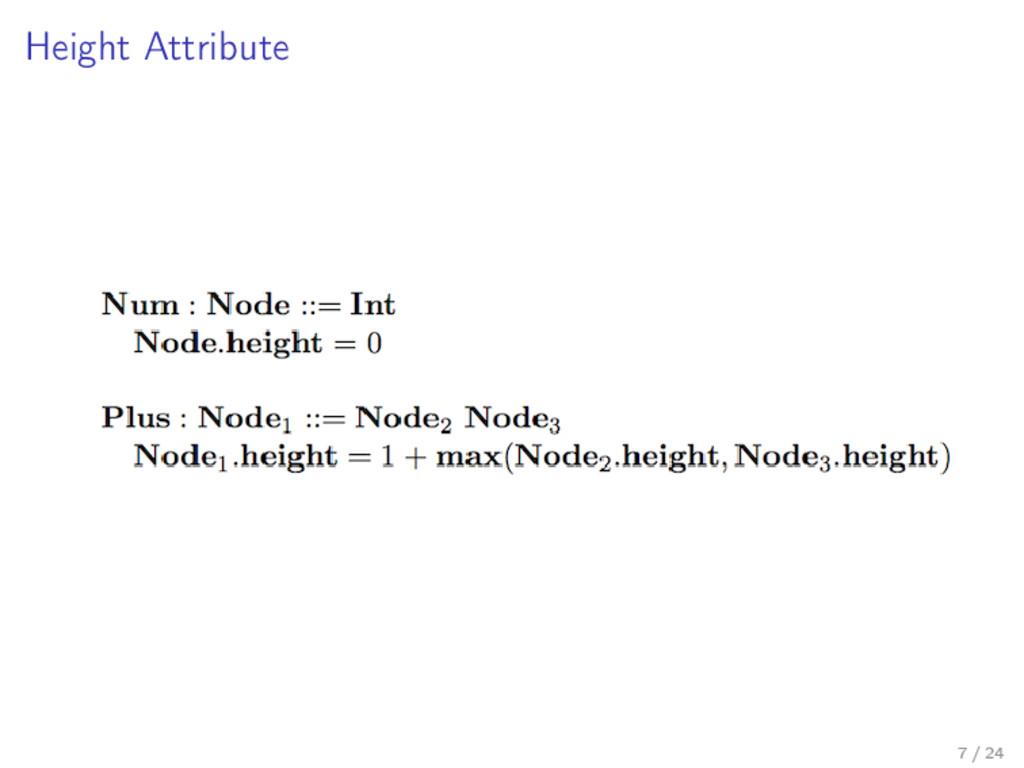 Height Attribute 7 / 24