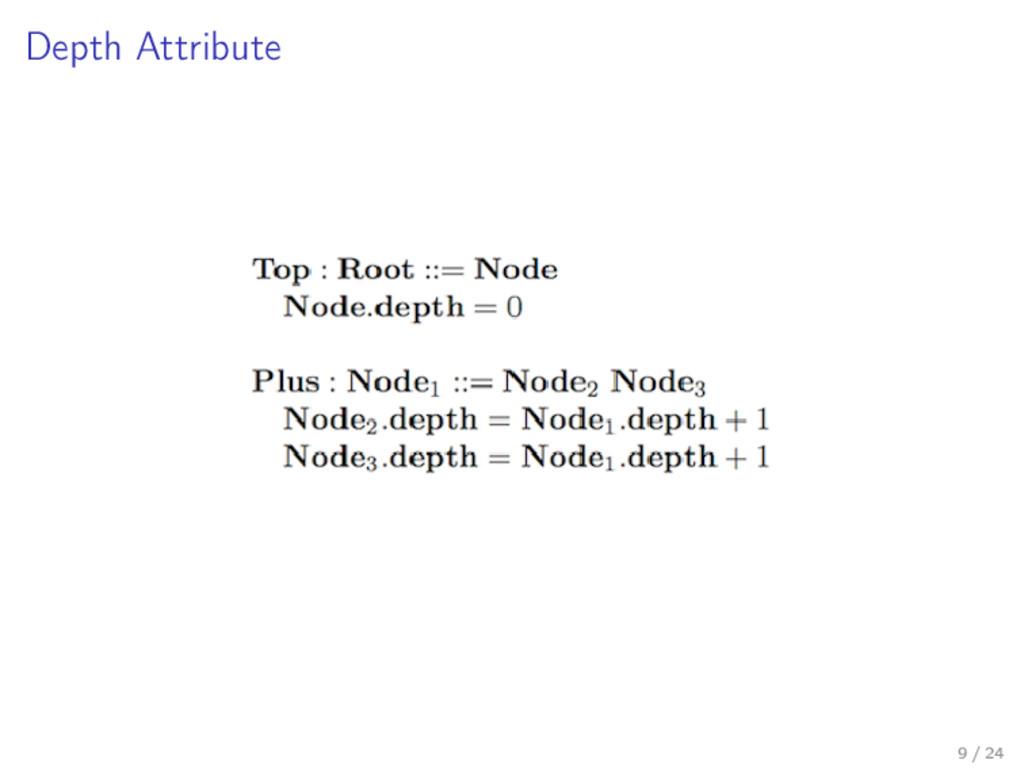 Depth Attribute 9 / 24