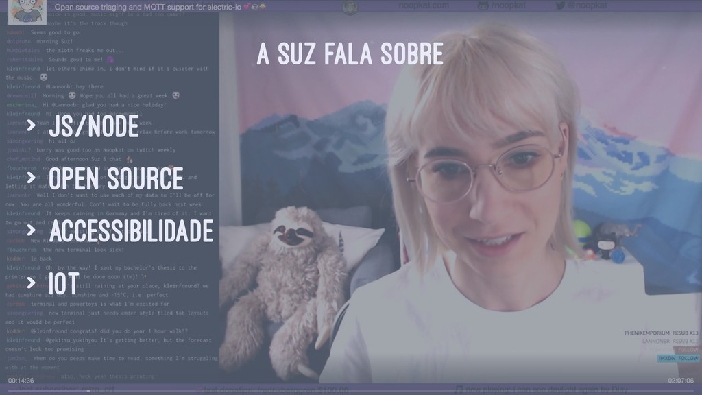 A SUZ FALA SOBRE > JS/node > open source > acce...