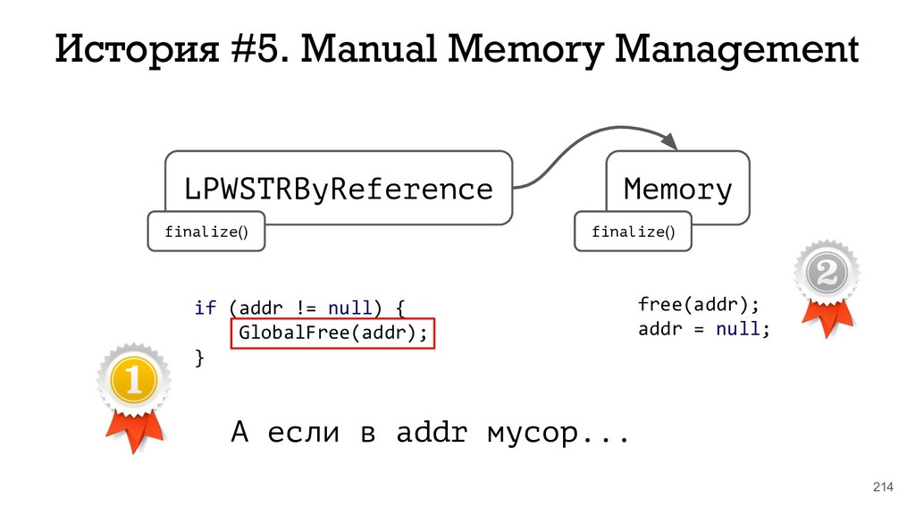 214 История #5. Manual Memory Management LPWSTR...