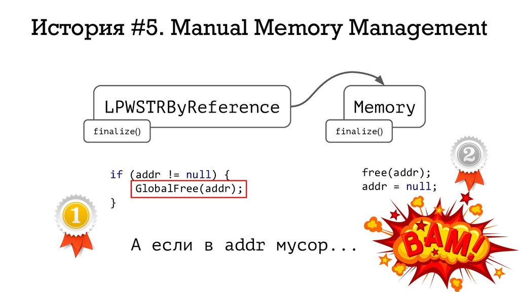 215 История #5. Manual Memory Management LPWSTR...