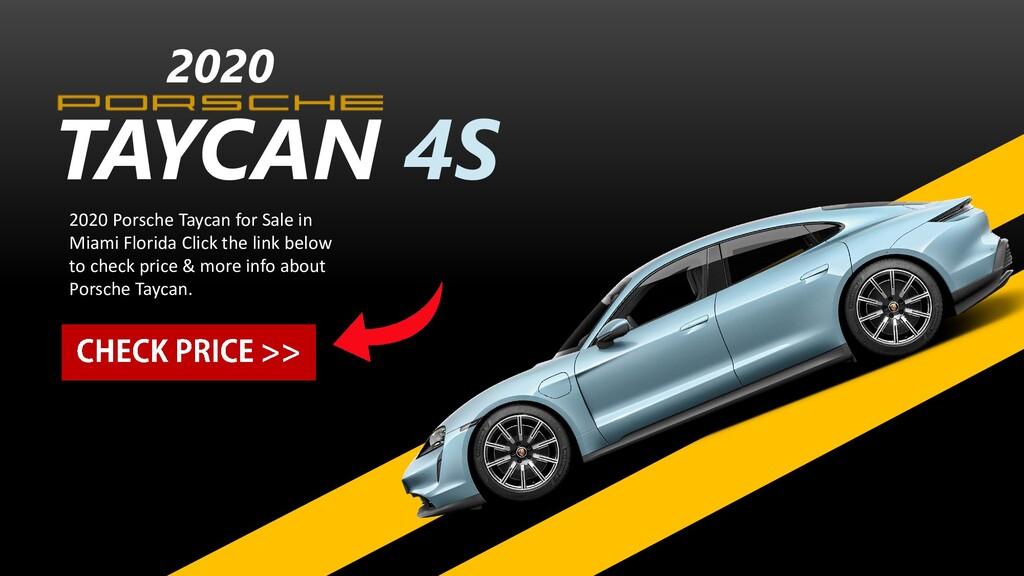 TAYCAN 4S 2020 2020 Porsche Taycan for Sale in ...