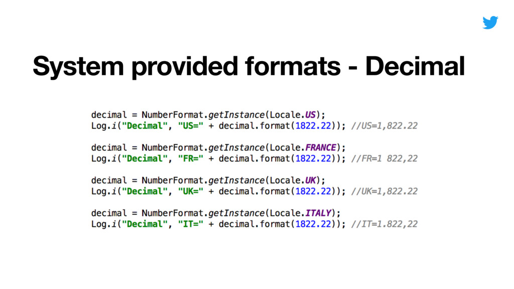 System provided formats - Decimal Date