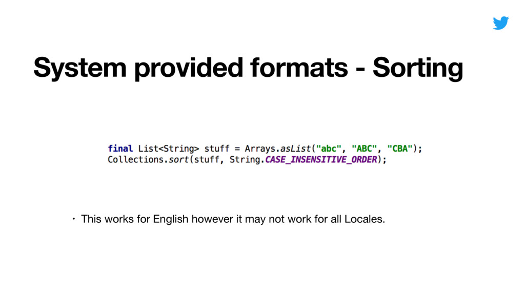 System provided formats - Sorting Date • This w...