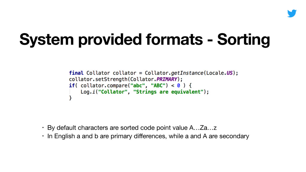 System provided formats - Sorting Date • By def...