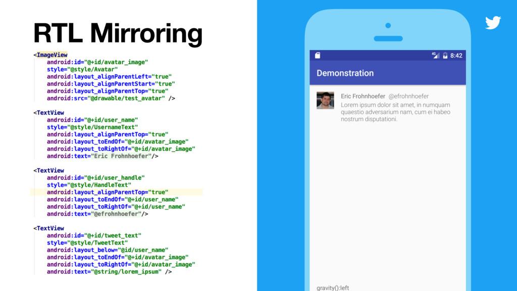 RTL Mirroring