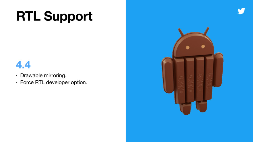 RTL Support 4.4 • Drawable mirroring.  • Force ...