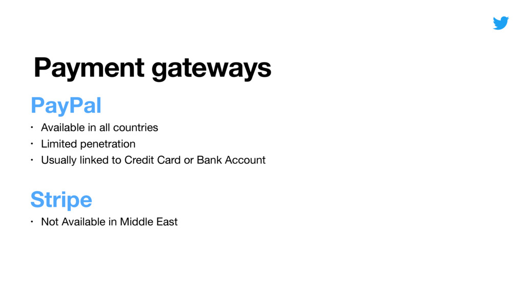 Payment gateways PayPal • Available in all coun...