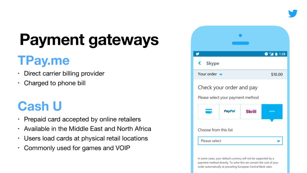 Payment gateways TPay.me • Direct carrier billi...