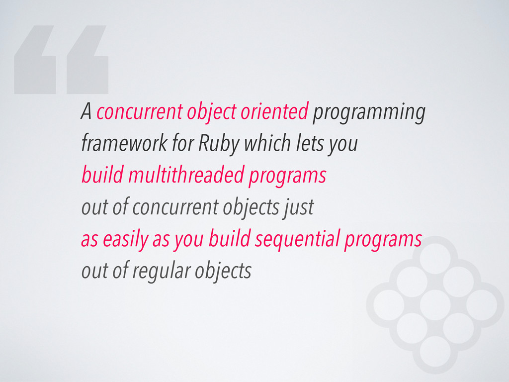 A concurrent object oriented programming framew...