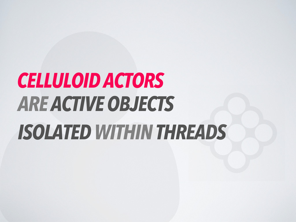  CELLULOID ACTORS ARE ACTIVE OBJECTS ISOLATED ...