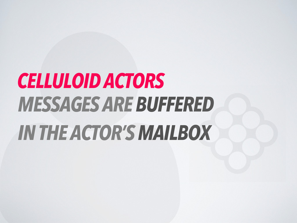  CELLULOID ACTORS MESSAGES ARE BUFFERED IN THE...