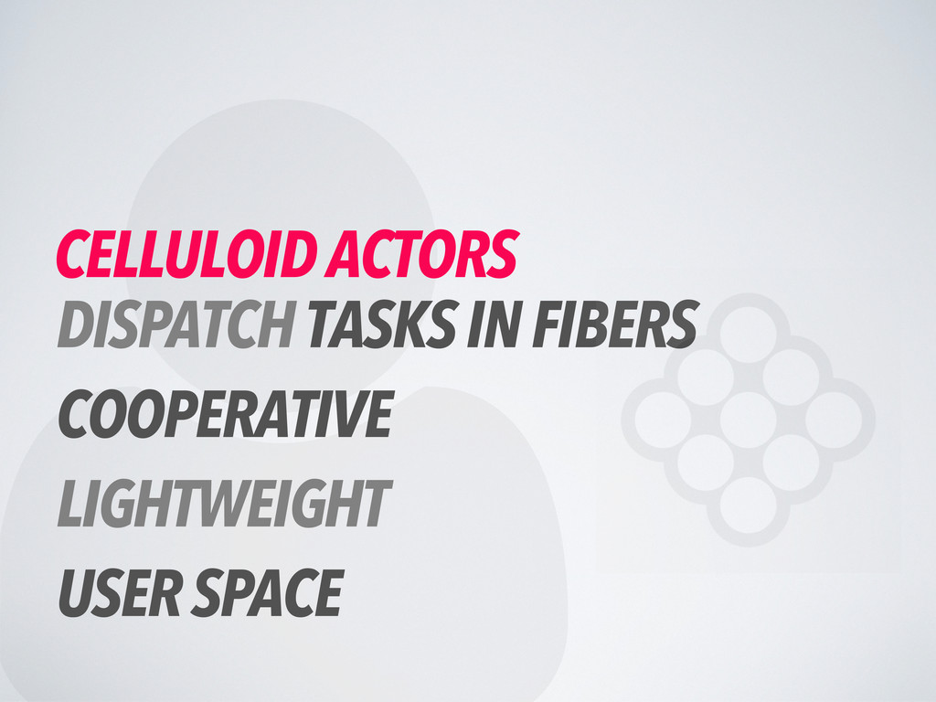  CELLULOID ACTORS DISPATCH TASKS IN FIBERS COO...