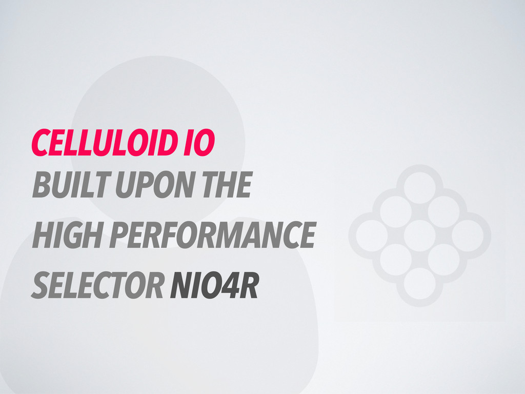  CELLULOID IO BUILT UPON THE HIGH PERFORMANCE ...