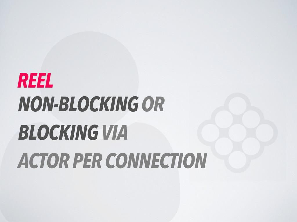  REEL NON-BLOCKING OR BLOCKING VIA ACTOR PER C...