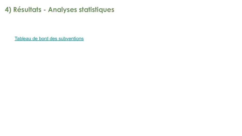 4) Résultats - Analyses statistiques Tableau de...