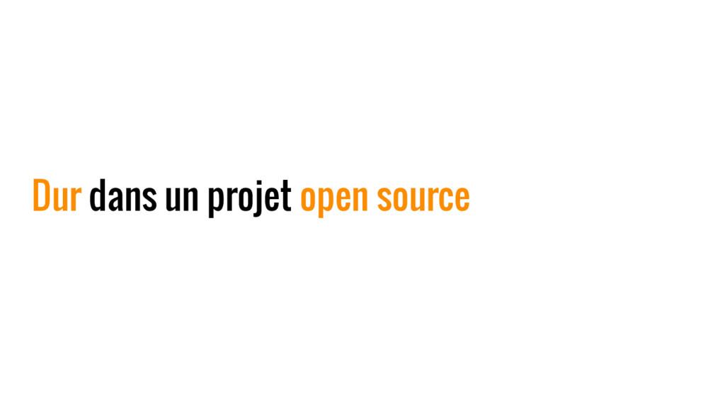 Dur dans un projet open source