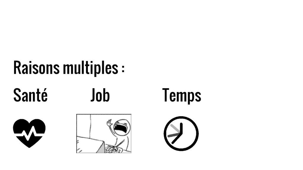 Raisons multiples : Santé Job Temps