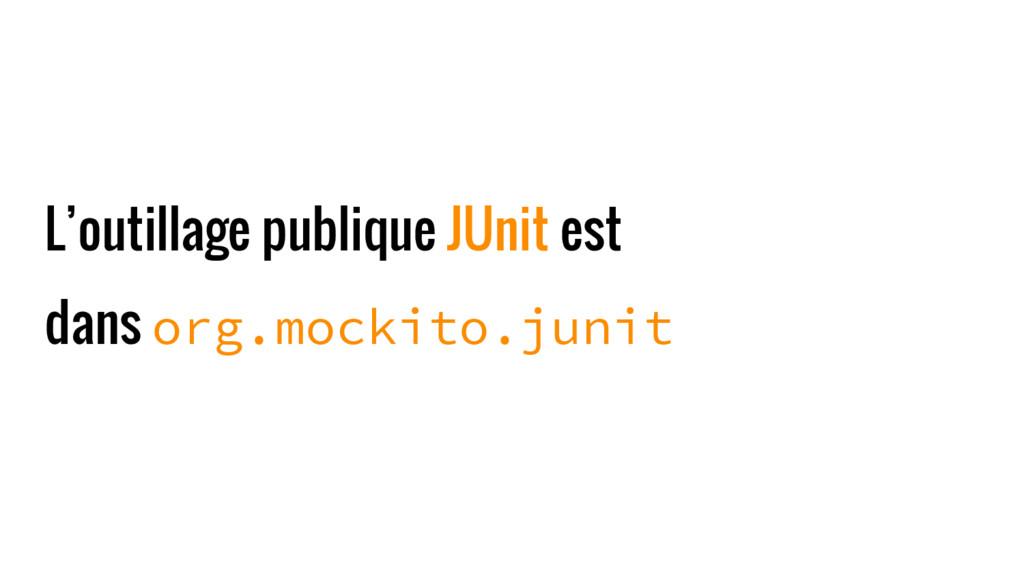 L'outillage publique JUnit est dans org.mockito...