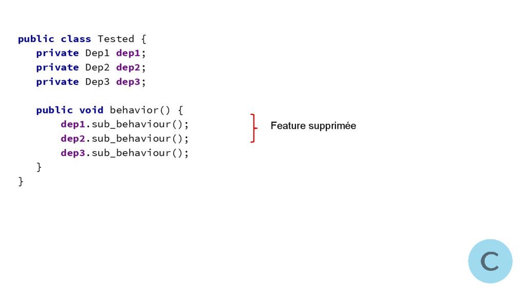 public class Tested { private Dep1 dep1; privat...