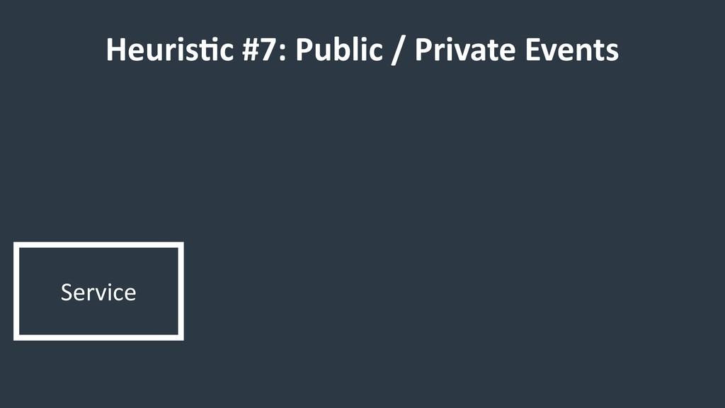 Service HeurisCc #7: Public / Private Events